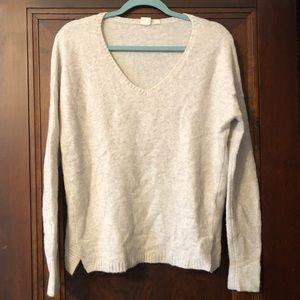 Gap V Neck Sweater Cream Beige